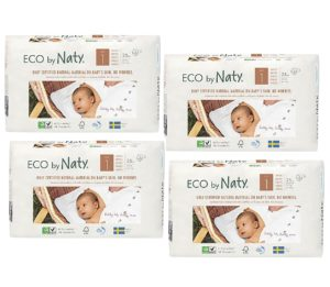 Pachet economic Scutece eco biodegradabile Naty nr. 1
