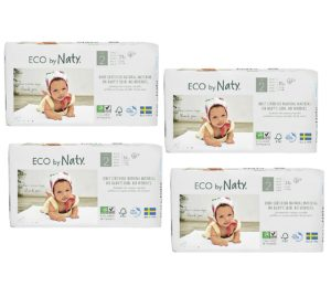 Pachet economic Scutece eco biodegradabile Naty nr. 2