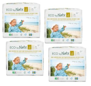 Pachet economic Scutece eco biodegradabile Naty nr. 4