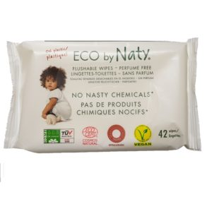 Servetele umede eco Flushable Naty
