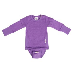 Body tricou 2 in 1 canepa bumbac organic manymonths Sheer Violet