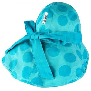 Palarie canepa bumbac organic manymonths Light Unique funda big dots turquoise