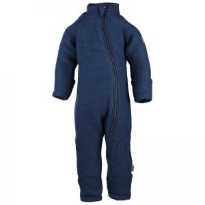 Overall din lână merinos fleece Mikk-line - Blue Nights