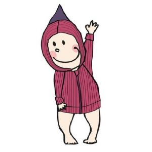Hoodie din lana merinos manymonths frosted berry