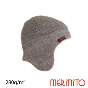 Caciula fleece lana merinos merinito shark gray