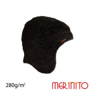 Caciula fleece lana merinos merinito Moonless Black
