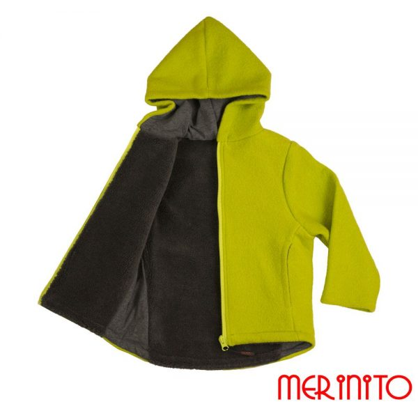 Jacheta lana fiarta plus boiled wool Merinito Lime