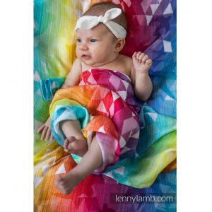 Swaddle wrap pled bambus swallows rainbow light lenny lamb