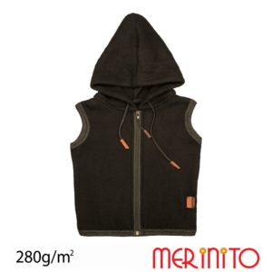 Vesta lana merinos fleece copii Merinito Moonless Black