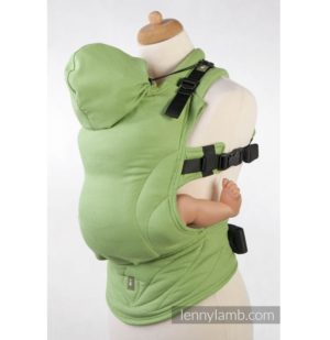 Marsupiu ergonomic SSC Green Diamond LennyLamb wrap conversion babywearing