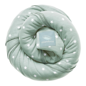 Wrap elastic Manduca Little Stars Mint bumbac organic