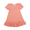 Tunica Frill 2 in 1 maneci detasabile canepa bumbac organic Manymonths Peach Rose