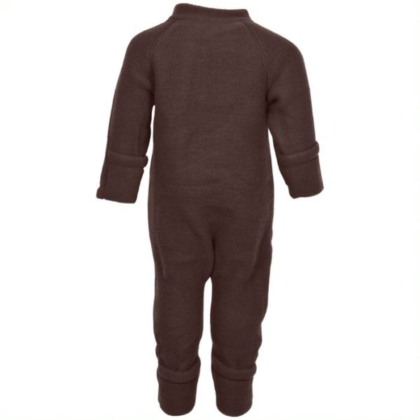 Overall fleece lana merinos mikk-line puce brown
