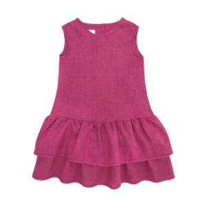 Rochie din in organic Woolver Orchid